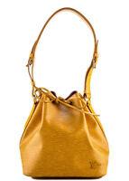 AUTH LOUIS VUITTON Yellow Epi Leather Gold Tone Noe Tote Handbag BP2728 MHL