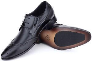 11a25643e015 Image is loading Mio-Marino-Mens-Shoes-Oxford-Dress-Shoes-Genuine-