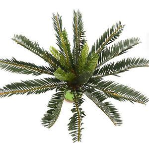 Artificial Palm Tree Green Large Leaf Plants Plastic Leaves Garden Decoration 692770054415 Ebay
