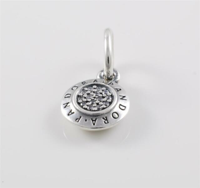 Authentic Genuine Pandora Sterling Silver Cz Signature Pendant 390359CZ