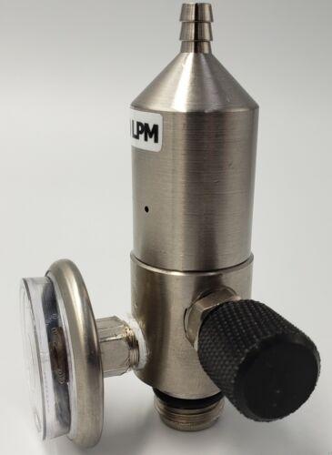 0.5LPM Fixed Flow Calibration Gas Regulator C10 Nickel Plated Brass