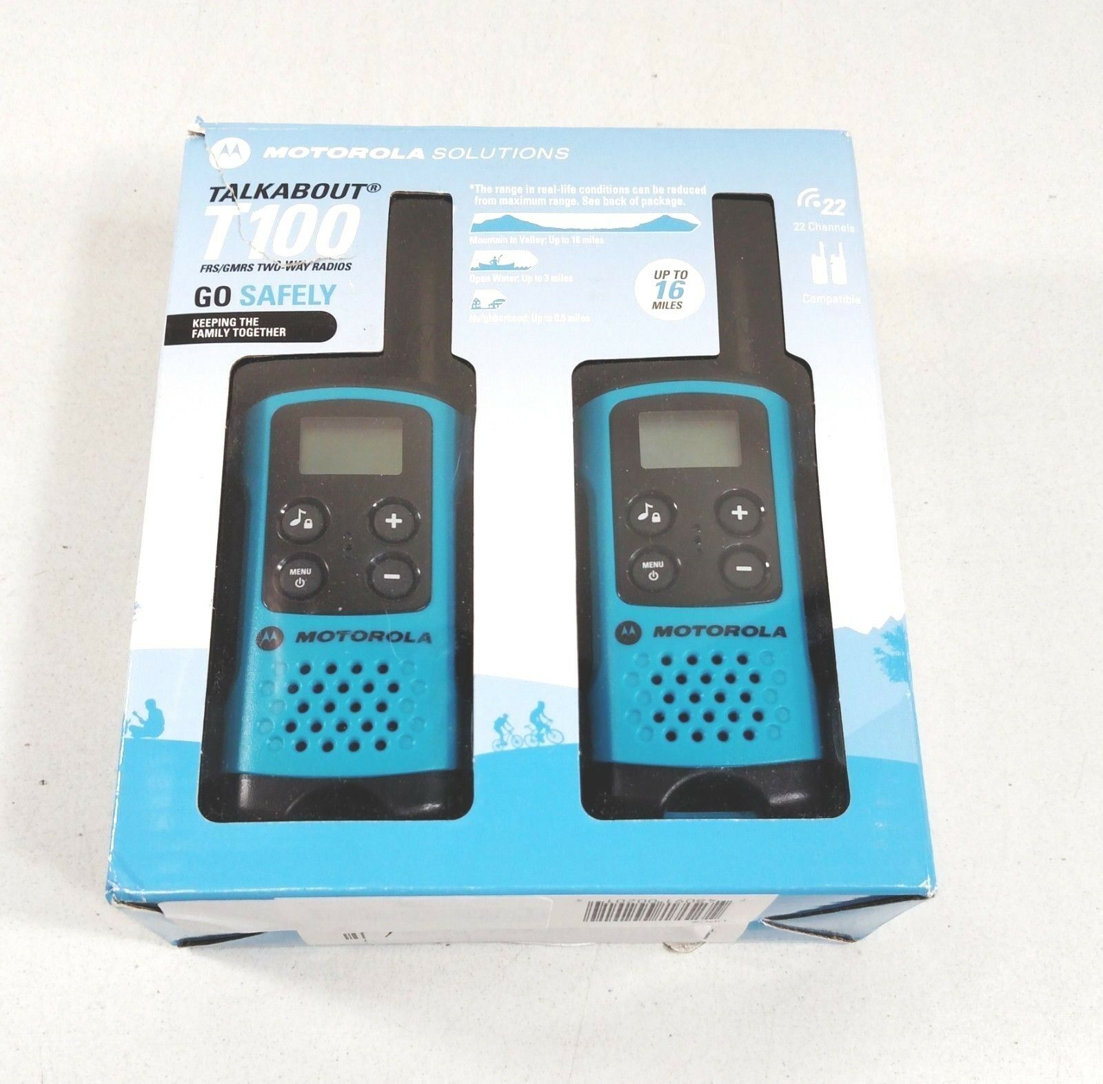 Fast Shipping Motorola T100 Talkabout Radio 2 Pack