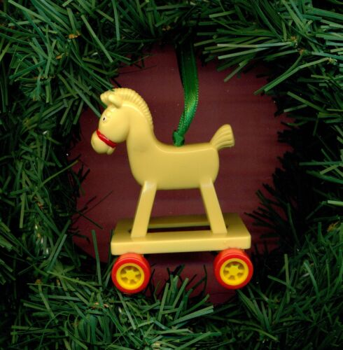 Hobby Horse rolling rocking McDonalds toy custom Christmas tree ornament 1985
