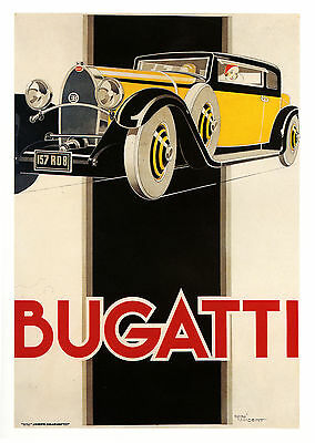 007 Vintage Advertising Transport  Art  Bugatti  *FREE POSTERS