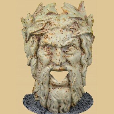 Methodisch Weingott Bacchus wasserspeier-gusseisen Antik Weiss/rost-35cm-garten-fontäne