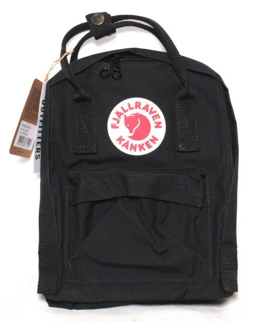 "FJALLRAVEN Kanken Mini Backpack (Color: 550 Black) 23561 9"" x 11"" x 4"" >NEW<"