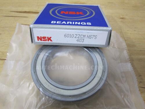 NSK Deep Groove Ball Bearing 6010ZZ