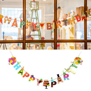 Party Happy Birthday Cute Garland Design Christmas Home