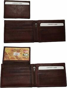 Men/'s wallet RFID Leather Bi-fold Wallet 11 Card 2 ID 2 Billfold  Black wallet.