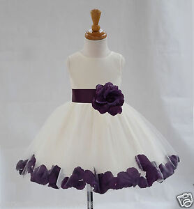 IVORY-FLOWER-GIRL-DRESS-WEDDING-FORMAL-PAGEANT-ROSE-PETALS-12-18M-2-3T-4-6-8-10