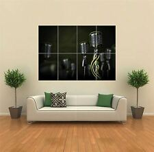 OPEN MIC MUSIC MICROPHONE SNAKE NEW GIANT POSTER WALL ART PRINT PICTURE G883