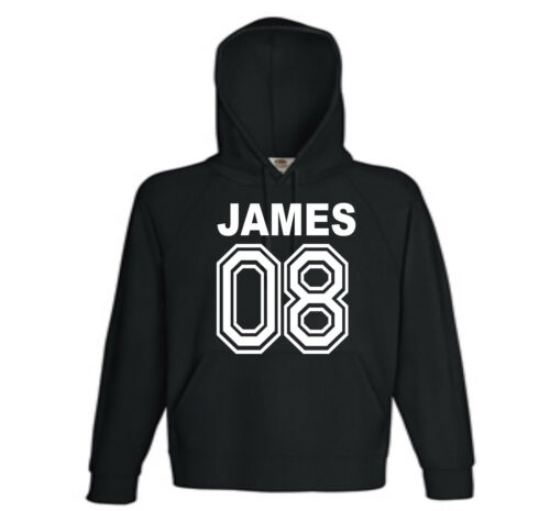 kids personalised USA STYLE NAME AND AND AGE  HOODIE 5//6 TO 14//15 IN STOCK