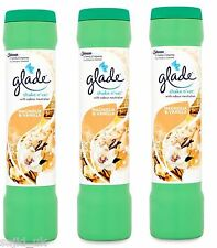 3x Glade Shake n' Vac Carpet Freshener Fragrance Powder 500g  Magnolia & Vanilla