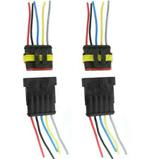 One Set 5 Pin Way Car Waterproof Electrical Connector Plug With Wire Awg Termina