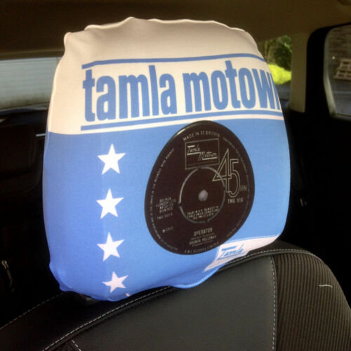 Blue Tamla Motown Design Car Seat Head Rest Covers Pack Of Two Accessory Gift
