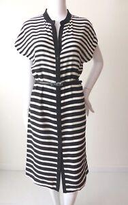 SPORTSCRAFT-NEW-rrp-299-00-Size-6-10-US-2-6-Striped-Silk-Shirt-Dress