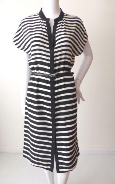 SPORTSCRAFT   rrp $299.00 Size 6 - 10  US 2 - 6  Striped Silk Shirt Dress