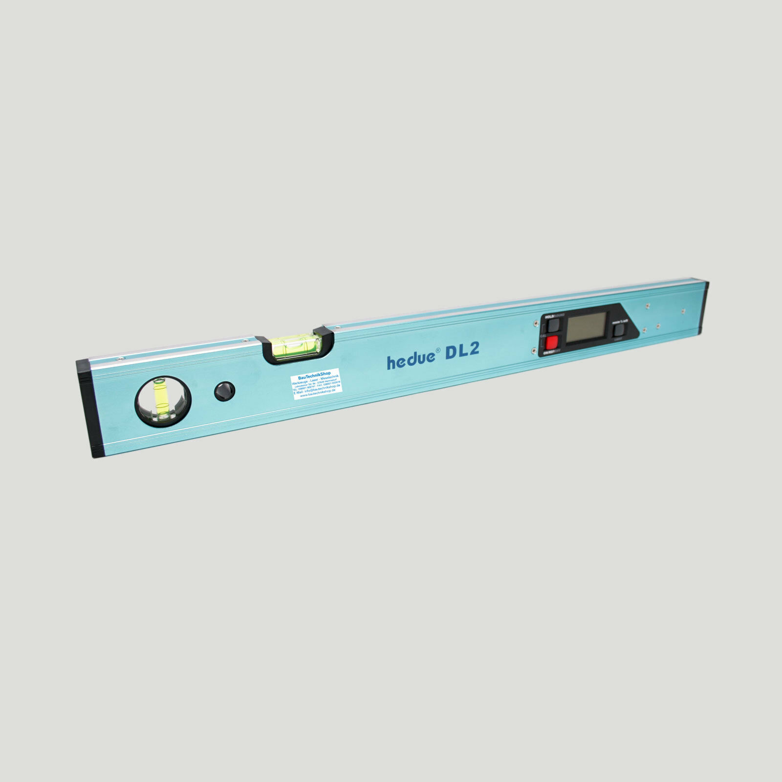 Digitale Wasserwaage 60cm hedue® DL2 - Messbereich 4 x 90° - Relativ- + Absolut
