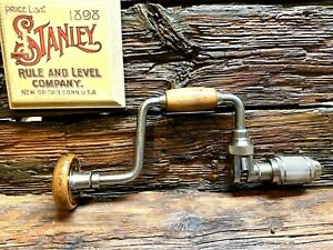 Stanley-No-78-8-034-Hand-Brace-Drill-Excellent-Condition-Well-Cared-For-Tool