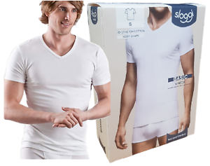 Men-039-s-T-Shirt-Intimate-short-Sleeve-V-Neck-Cotton-Basic-V-Neck-sloggi