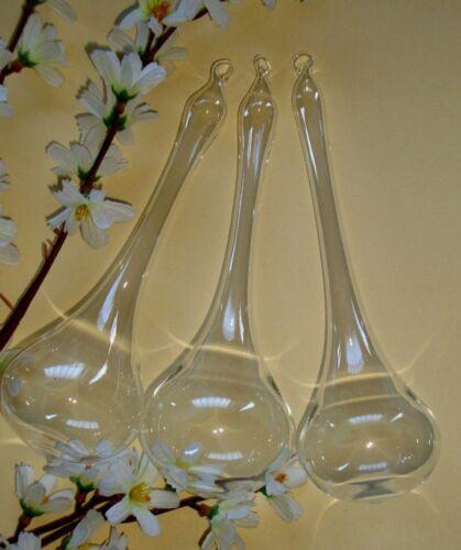NEU* 3 Stk große Glas Tropfen Ø 6 cm 18 cm lang aus Lauscha Glas mundgeblasen