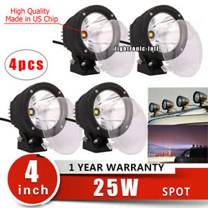 4pcs-4-7-034-25W-Round-LED-Work-Light-Spot-Fog-Driving-Head-Lamp-Offroad-ATV-Truck