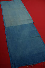"BR78/55 Vintage Japanese Fabric Cotton Momen Antique Boro Patch Indigo Blue 41"""