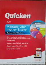 New INTUIT Quicken Deluxe Edition 2017 for Windows in Original Retail Box