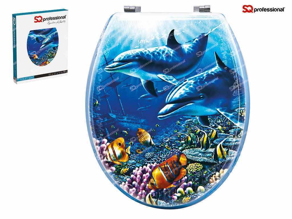 Siège de toilette en résine mdf nouveauté design siège de toilette dauphin design