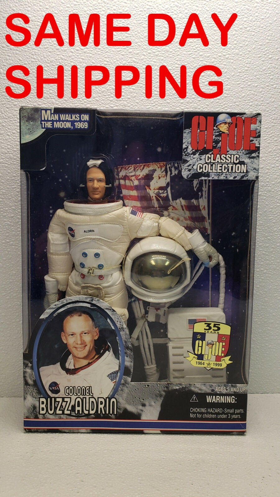 Hasbro gi joe classic collection buzz aldrin new in box posten 800200-r2