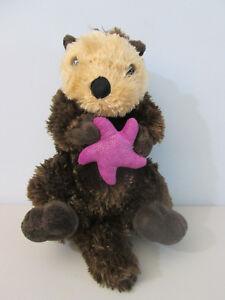 Wild Republic Sea Otter Plush Stuffed Animal Purple Star Fish Ebay