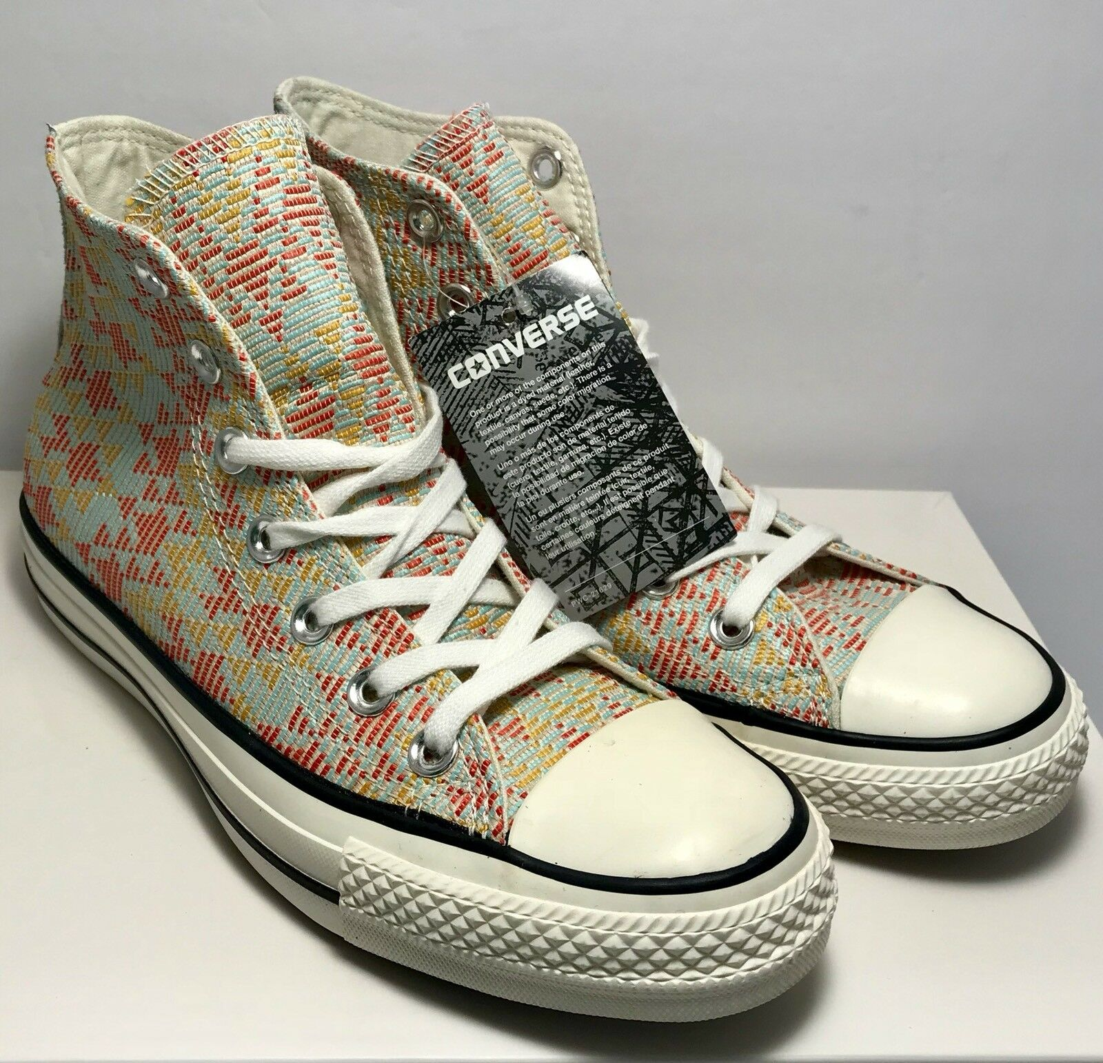 Converse Womens Size 7 Chuck Taylor All Star Star Star Hi Natural Weave shoes Sneakers 86c6a6