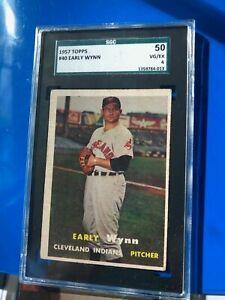 1957-Topps-Early-Wynn-Cleveland-Indians-HOF-SGC-50-VG-EX