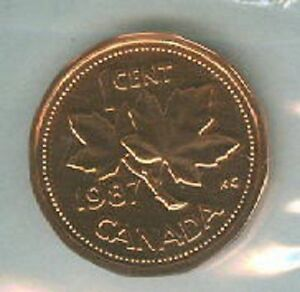 1987 Pl Proof Like Penny 1 One Cent 87 Canada Canadian Bu Coin Unc Ebay