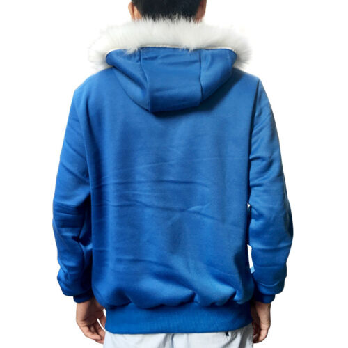 Undertale Sans Cosplay Hoodie Adult Hooded Jacket Coat Sweater Costume Blue