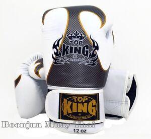 NWT-TOP-KING-Boxing-gloves-White-TKBGEM-Empower-Creativity-Muay-Thai-MMA-Gloves