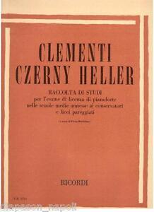Clementi-Czerny-Heller-Sammlung-Von-Studien-Fuer-L-039-Pruefung-R-Erinnerungen
