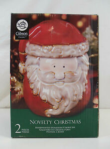 New Gibson Everyday 7.5 Inch Novelty Christmas Santa Clause Cookie Jar (wrs)