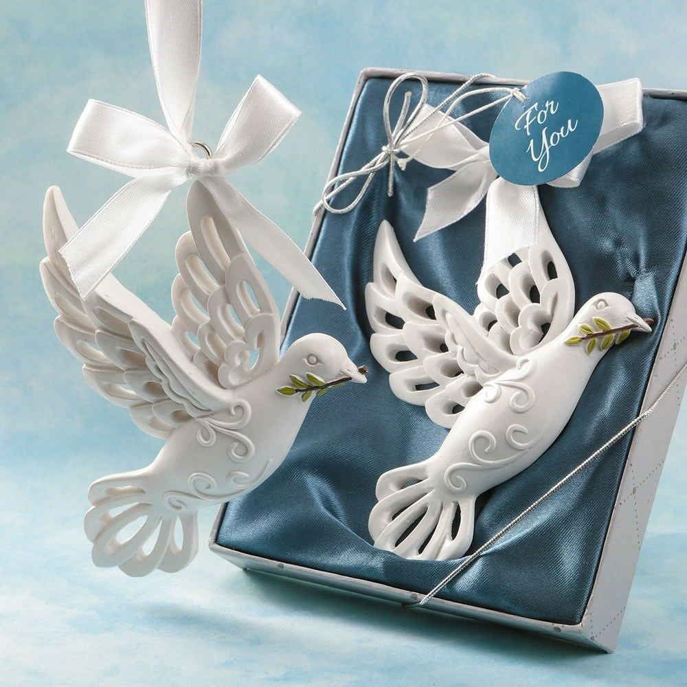 75 Dove of Peace Ornament Christening Baptism Communion Religious Party Favors