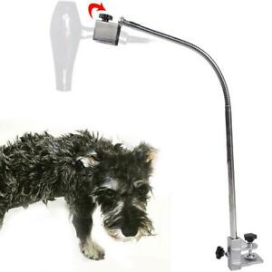 Dog-Pet-Cat-Grooming-Table-Arm-Hair-Dryer-Hose-Clamp-Clip-Holder-Flexible-Stand