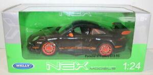 Welly-Nex-1-24-escala-22495W-Porsche-911-997-GT3-RS-Negro