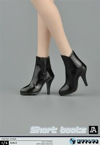 ZY-Toys-COOL-GIRL-CG-CY-Black-Short-Boots-1-6-FIT-FOR-PHICEN-KUMIK-Female-Body