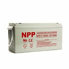 NPP 12V 150 Amp 12 Volt 150Ah Rechargeable Wind Solar Sealed Lead Acid Battery