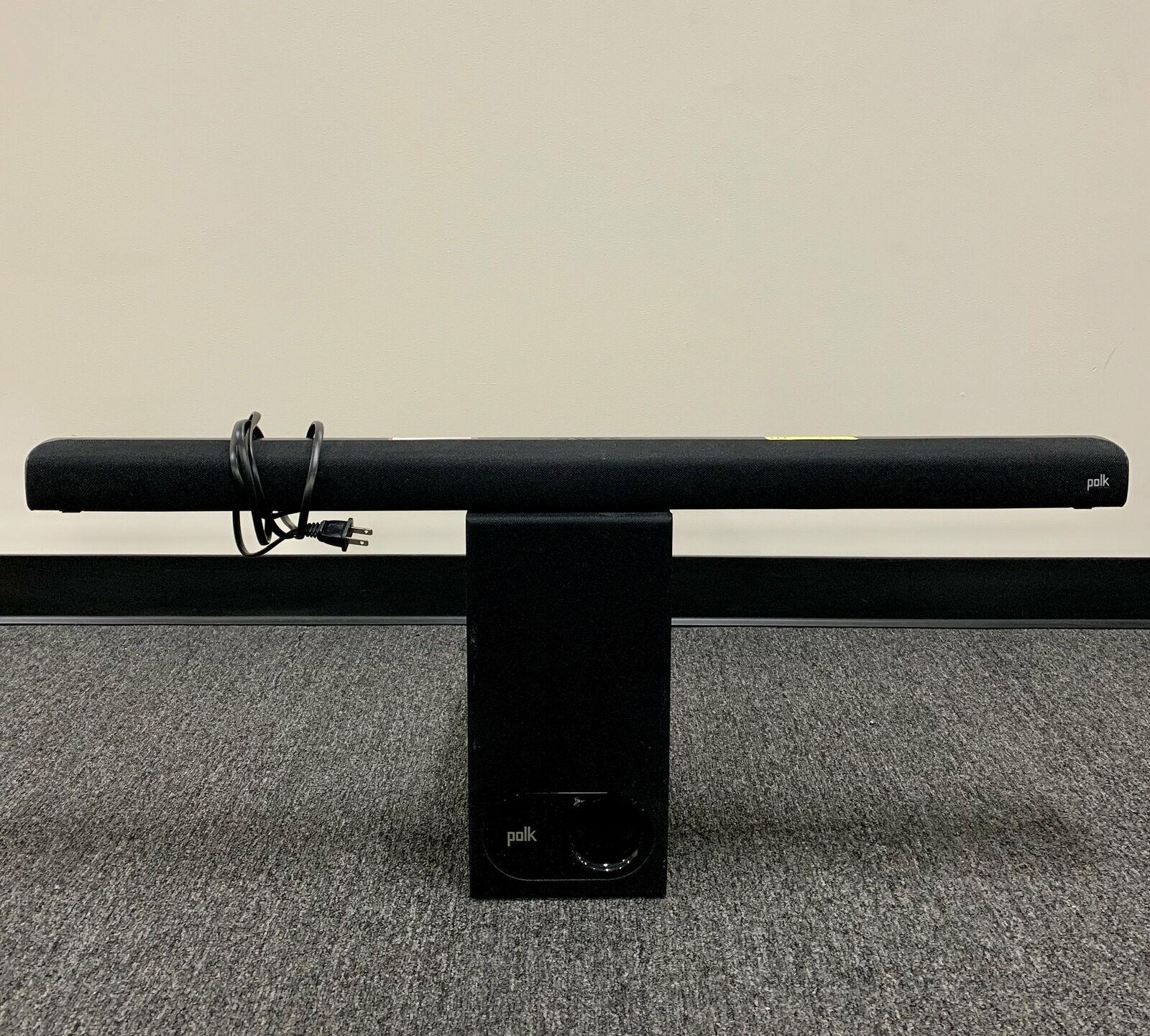 "2.1-Channel Soundbar System with 5-1//4/"" Wireless Subwoofer Black Polk Audio"