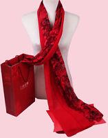 Seidentuch Seidenschal tuch schal scarf shawl 100% Seide silk NEU 170X80CM