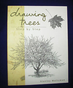 Drawing-Trees-Step-by-Step-art-Stanley-Maltzman-soft-cover-pencil-sketch-tree