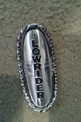 NEW Lowrider SQUARE TWISTED Bicycle Badge Name Plate Trim Holder Show Bike