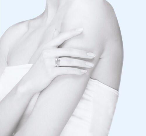 14K Solid or Blanc Zircone cubique Couronne Sweet 15 Anneau quinceañera anos Anniversaire Bande de filles