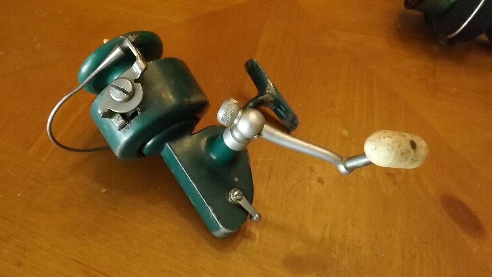 Antique verde Penn Spinfisher 710 Spinning pesca Reel