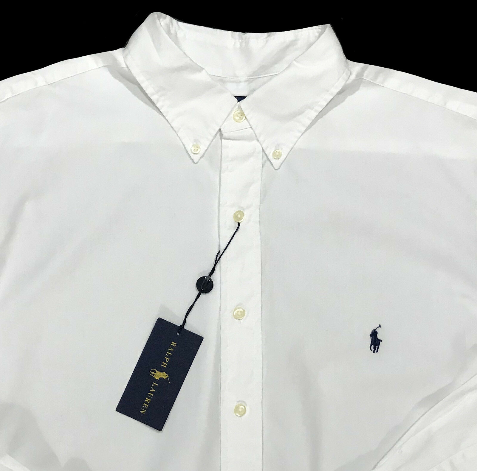 Men's RALPH LAUREN White Feather Weight Twill Shirt 2XB 2X 2XL BIG NWT NEW Nice